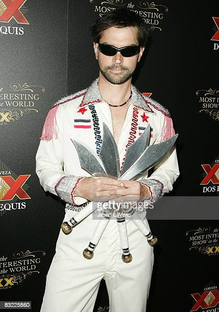 Performer Mark The Knife Faje attends The Most Interesting Show in the World presented by Dos Equis at The Henry Fonda Theater on October 10 2008 in...