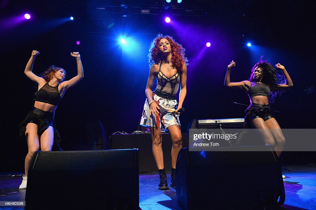 Performer Natalie La Rose (C) appears onstage during the AWXII kick-off concert on September 28, 2015 in New York City.