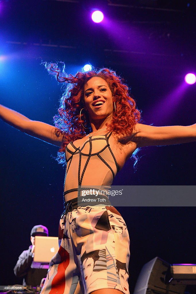 Performer Natalie La Rose appears onstage during the AWXII kick-off concert on September 28, 2015 in New York City.