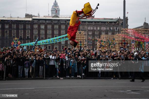 A performer participates in the Day of the Dead parade next to Constitution Square on November 2 2019 in Mexico City Mexico Observants celebrate the...