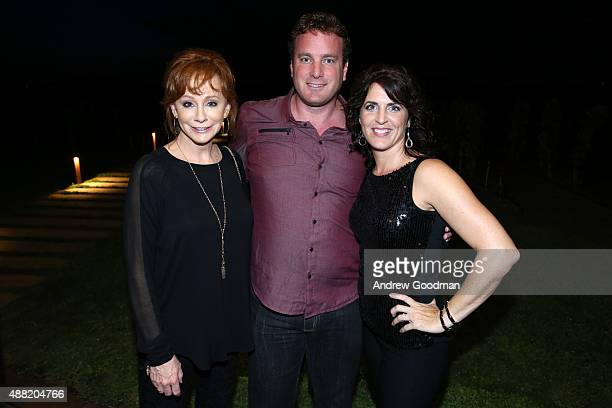 Performer Reba McEntire and Sean Currie attend the closing night reception at Antinori nel Chianti Classico winery during 2015 Celebrity Fight Night...