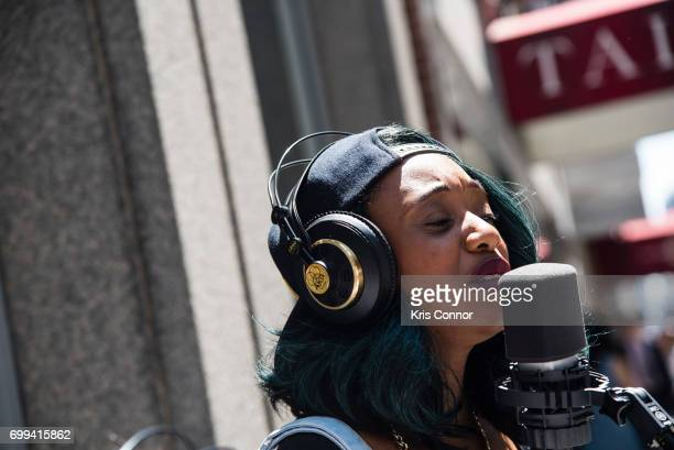 Performer RKHTY performs during the street studio as part of Make Music Day New York on June 21 2017 in New York City