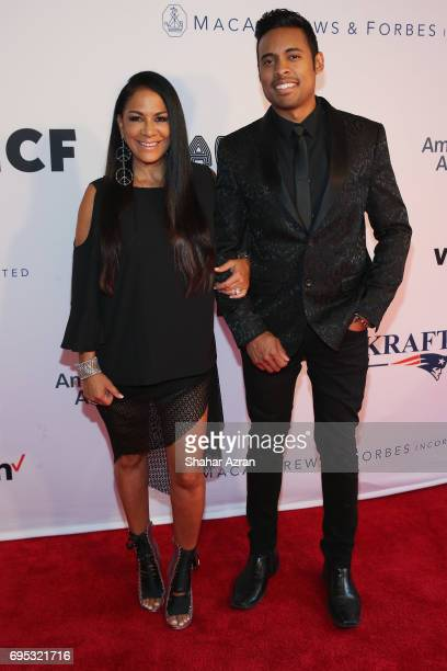 Performer Sheila E and Michael Gabriel attends Apollo Spring Gala 2017 at The Apollo Theater on June 12 2017 in New York City