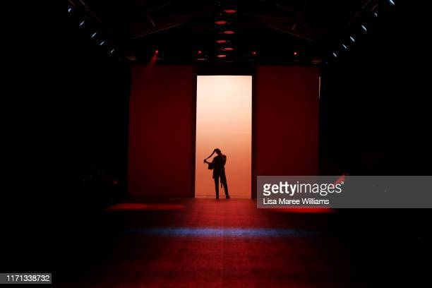 A performer sings during the Fashion Quarterly Miss FQ Present The Edit show during New Zealand Fashion Weekend 2019 on August 31 2019 in Auckland...