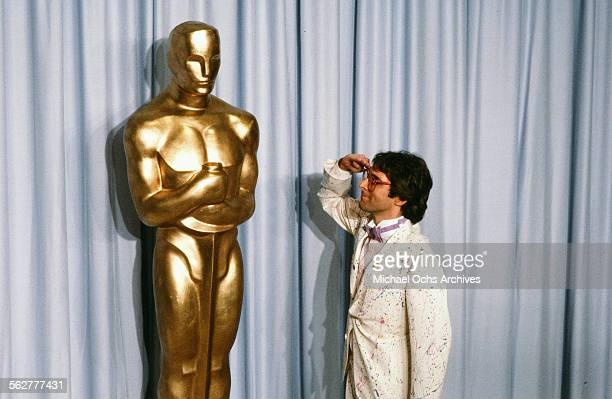 Performer Stephen Bishop poses backstage during the 55th Academy Awards at Dorothy Chandler Pavilion Los Angeles California