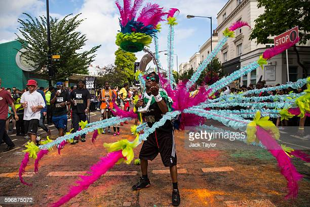 A performer takes part in the Notting Hill Carnival on August 28 2016 in London England The Notting Hill Carnival which has taken place annually...