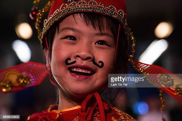 Performer takes part of the 2015 Cathay Pacific International Chinese New Year Night Parade on February 19 2015 in Hong Kong Hong Kong The parade...