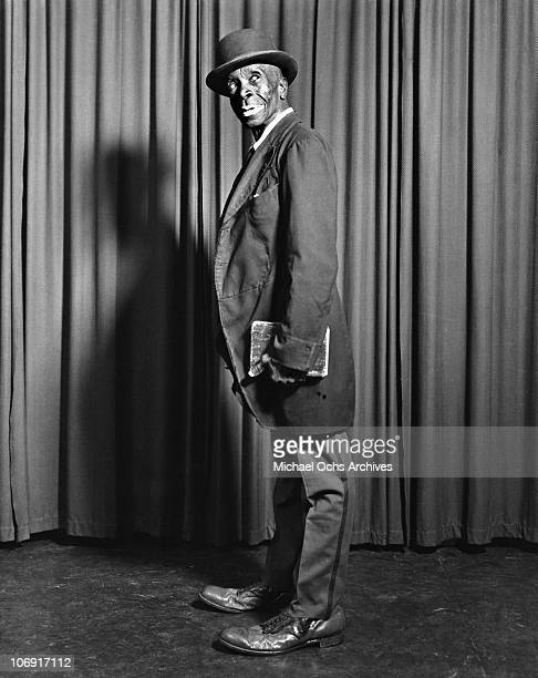 A performer with Irwin C Miller's Brown Skin Models Harlem Road Show pose for a portrait circa 1938 in New York city New York