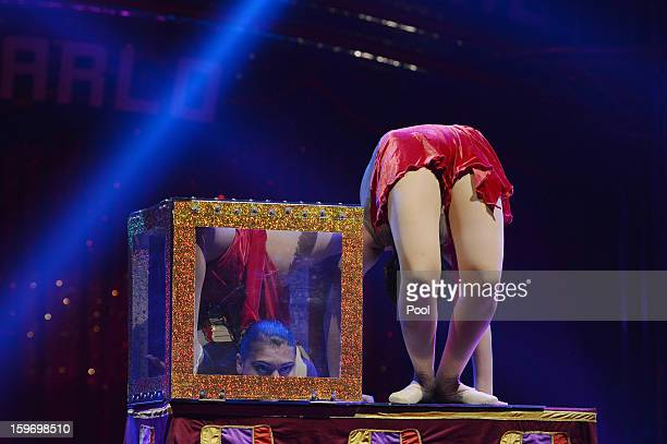 Performers act on stage during day two of the MonteCarlo 37th International Circus Festival on January 18 2013 in MonteCarlo Monaco