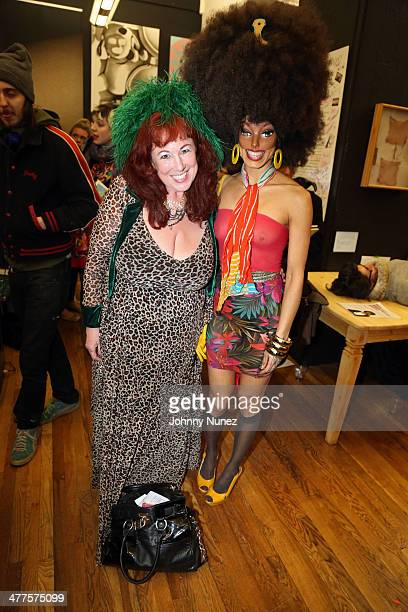 Performers Annie Sprinkle and Narcissister attend the Whitney Houston Biennial Curated By Christine Finley on March 9 2014 in the Brooklyn borough of...