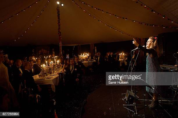 Performers at the gala dinner as The Business of Fashion Presents VOICES on December 2 2016 in Oxfordshire England
