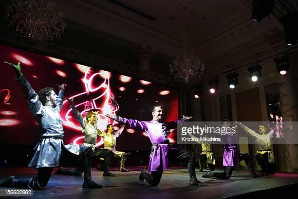 Performers at the launch of the Four Seasons Hotel Baku on November 17 2012 in Baku Azerbaijan