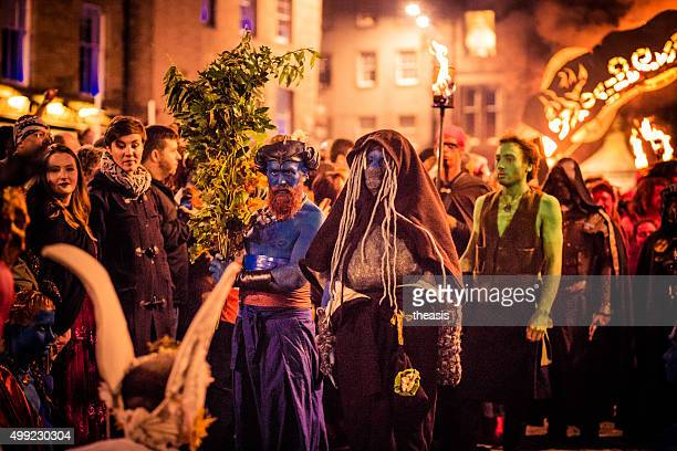 Performers at the Samhuinn Fire Festival, Edinburgh