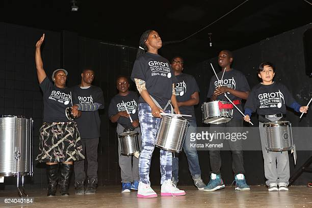 Performers attend the Jean Shafiroff Jay Moorhead Underwrite Annual Community Thanksgiving Dinner at NYC Mission Society at Minisink Townhouse on...