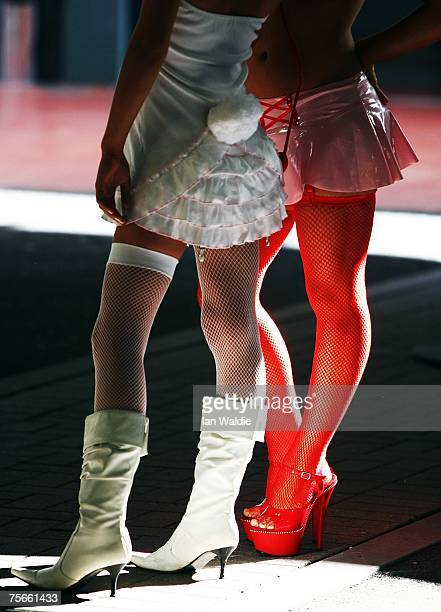 Performers attend the opening day of Sexpo Sydney July 26 2007 in Sydney Australia Sexpo is marketed as Australia's health sexuality and...