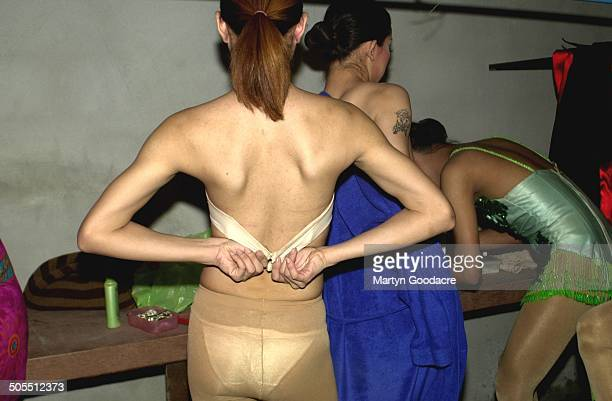 Performers backstage at a kathoey or ladyboy cabaret show in Thailand 2006