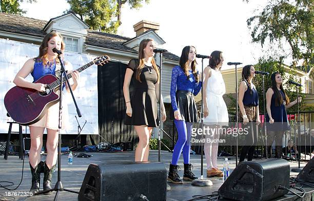 Performers Cimorelli attend the The TJ Martell Foundation's Family Day LA at CBS Studios on November 10 2013 in Los Angeles California