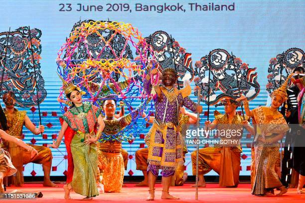 Performers dance during the opening ceremony of the 34th Association of Southeast Asian Nations summit in Bangkok on June 23 2019