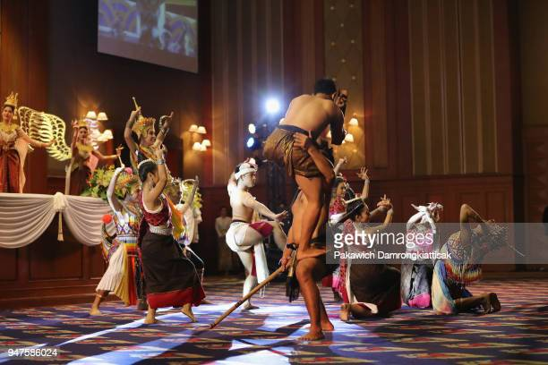 Performers dance during the SportAccord Opening Ceremony at the Royal Thai Navy Convention Hall on April 17 2018 in Bangkok Thailand