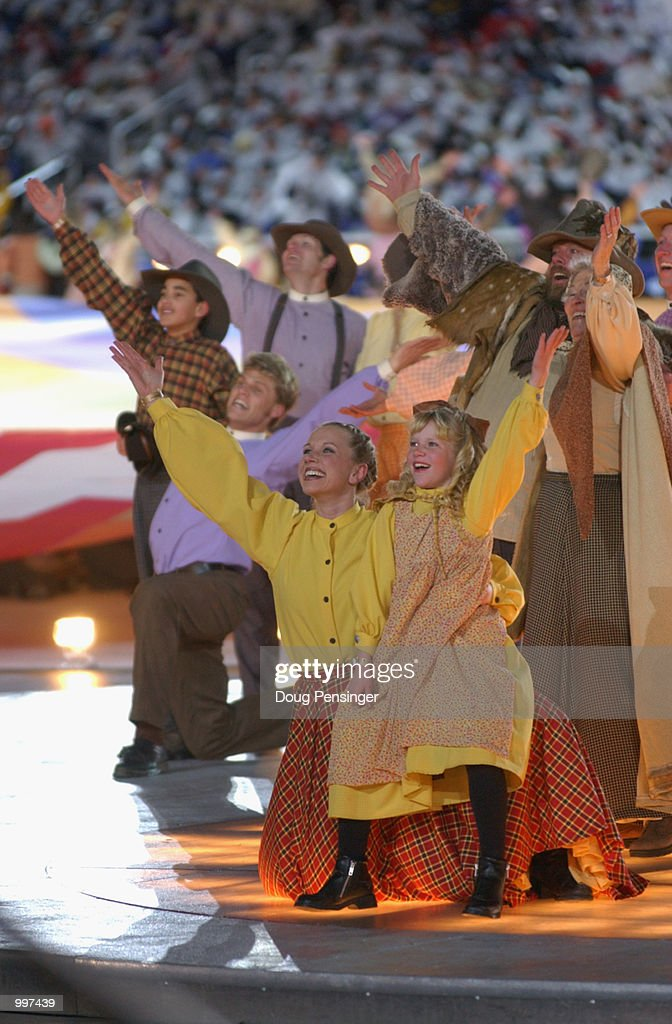 Performers during the American West Suite during the Opening Ceremony of the Salt Lake City Winter Olympic Games on February 8, 2002 at the Rice-Eccles Olympic Stadium in Salt Lake City, Utah.