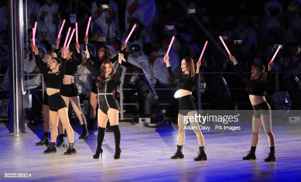 Performers during the Closing Ceremony for the PyeongChang 2018 Winter Paralympics in South Korea