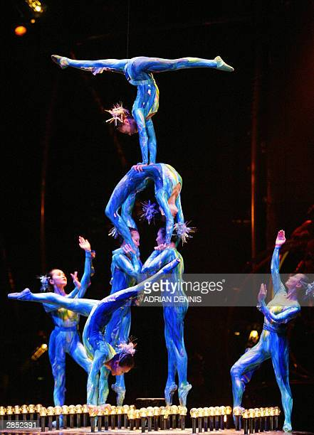 Performers during the preview night of Cirque Du Soleil at The Royal Albert Hall in London 07 January 2004 The European Premiere of the show Dralion...