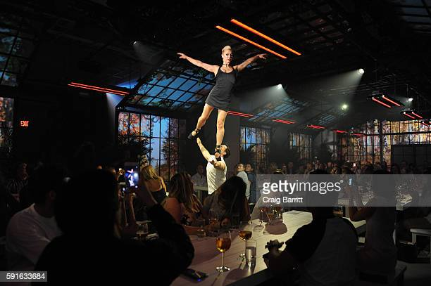 "Performers from 45 DEGREES – Cirque du Soleil's events and special projects company – entertain guests at Stella Artois ""Le Savoir,"" a..."