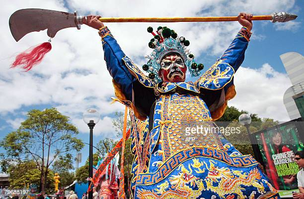 Performers from the Chinese province of Shaanxi celebrate take part in Sydney's Chinese Lunar New Year parade on February 10 2008 Thousands of people...
