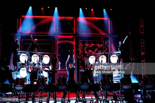 Performers from the musical Cyberjam in action on stage at the Queen's Theatre in London on 22nd September 2003