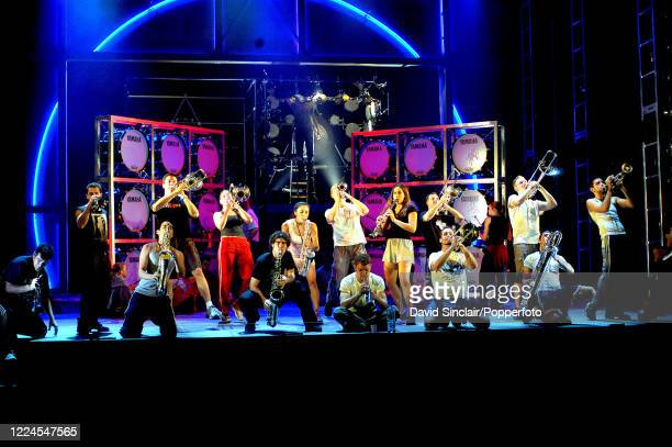 Performers from the musical Cyberjam on stage at the Queen's Theatre in London on 22nd September 2003