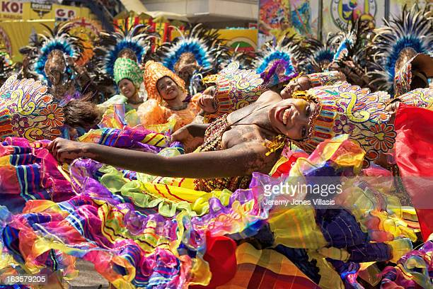 CONTENT] Performers from Tribu Paghidaet perform their routine during Dinagyang Festival Ati Streetdance Competition in Iloilo City the Philippines...