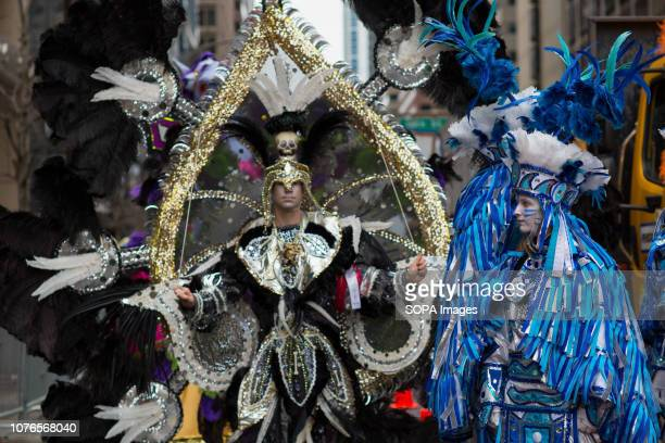 Performers gather for the Philadelphia Mummers Parade a New Years Day tradition Hundreds of performers comics and musicians gathered for the 118th...