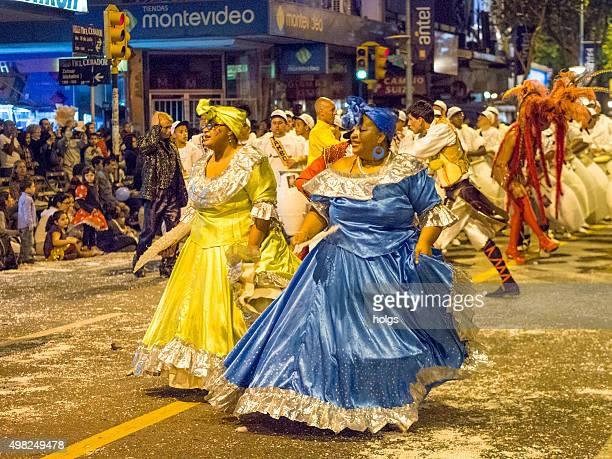 Atletas no carnaval em Montevideu, Uruguai