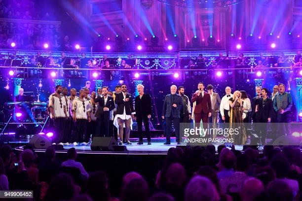 Performers including Ladysmith Black Mambazo, British tenor Alfie Boe, US musician Shaggy, British musician Sting, British singer Tom Jones,...