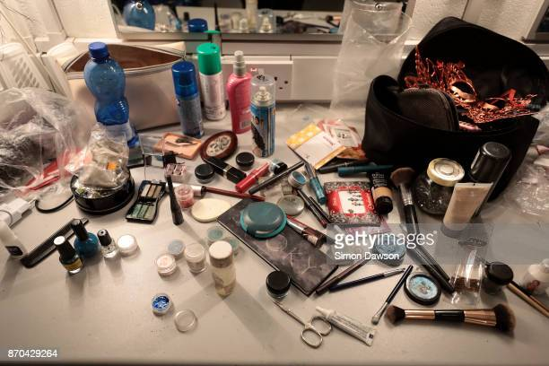 A performer's make up sits on a dressing table at the World Burlesque Games 2017 on November 4 2017 in London England The World Burlesque games is...