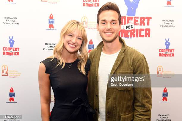 Performers Melissa Benoist and Grant Gustin attend the Concert for America at Royce Hall UCLA on September 21 2019 in Westwood California