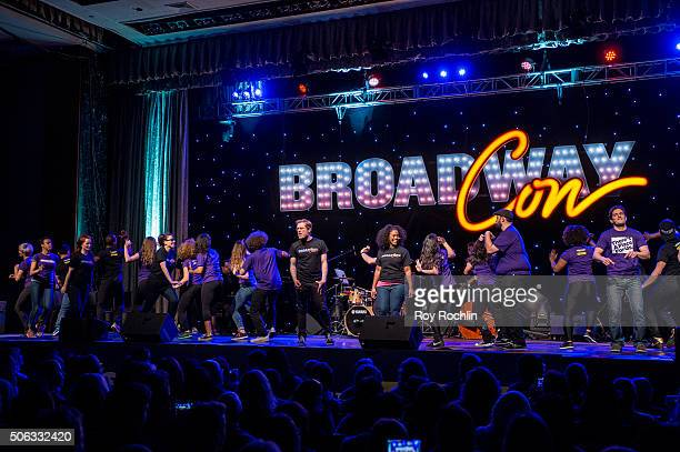 Performers on stage during BroadwayCon 2016 at the New York Hilton Midtown on January 22, 2016 in New York City.