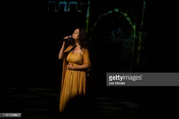 Performers on stage during the Genesis Prize ceremony at The Jerusalem Theater on June 20 2019 in Jerusalem Israel