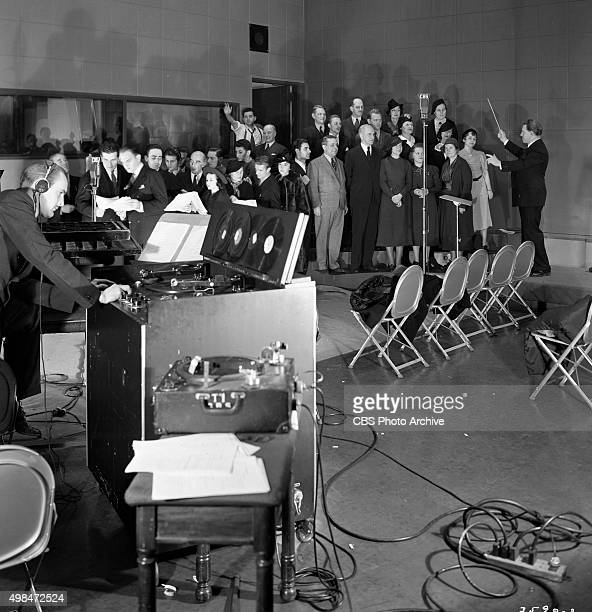 Performers on the CBS Radio drama program Brave New World A civic minded and educational program presented to help increase appreciation of the Latin...