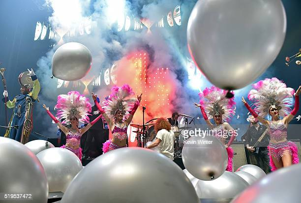 Performers onstage during the grand opening of TMobile Arena on April 6 2016 in Las Vegas Nevada