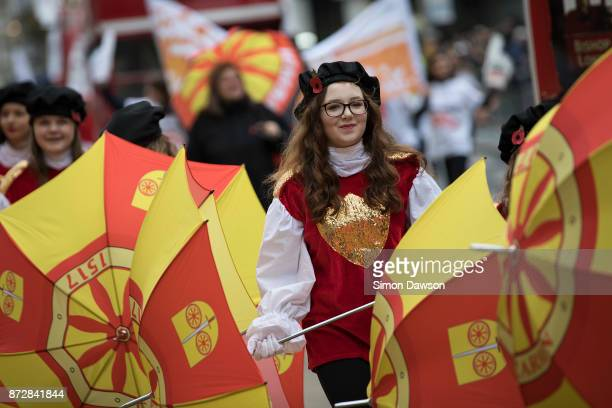 Performers parade in the Lord Mayor's Show on November 11 2017 in London England The Lord Mayor's Show now in its 802nd year makes its way from the...