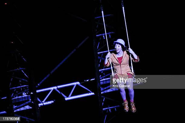 Performers perform during the Cirque Du Soleil's Quidam Press Preview at The George Mason University Patriot Center on July 17 2013 in Fairfax...