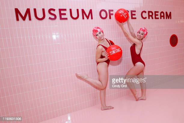 Performers pose during Museum of Ice Cream SoHo Flagship Opening Party on December 12 2019 in New York City