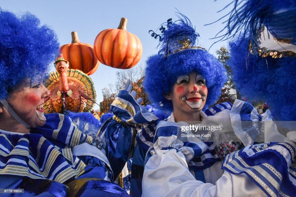 Performers prepare for the start of the annual Macy's Thanksgiving Day parade on November 23, 2017 in New York City. The Macy's Thanksgiving Day parade is the largest parade in the world and has been held since 1924.