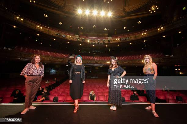 Performers Rachel Tucker, Louise Dearman, Emma Hatton and Alice Fearne who have all played the character Elphaba from the musical Wicked pose for a...