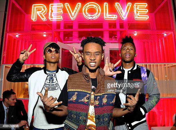 Performers Rae Sremmurd attend the REVOLVE PopUp Launch Party at The Grove on November 4 2014 in Los Angeles California