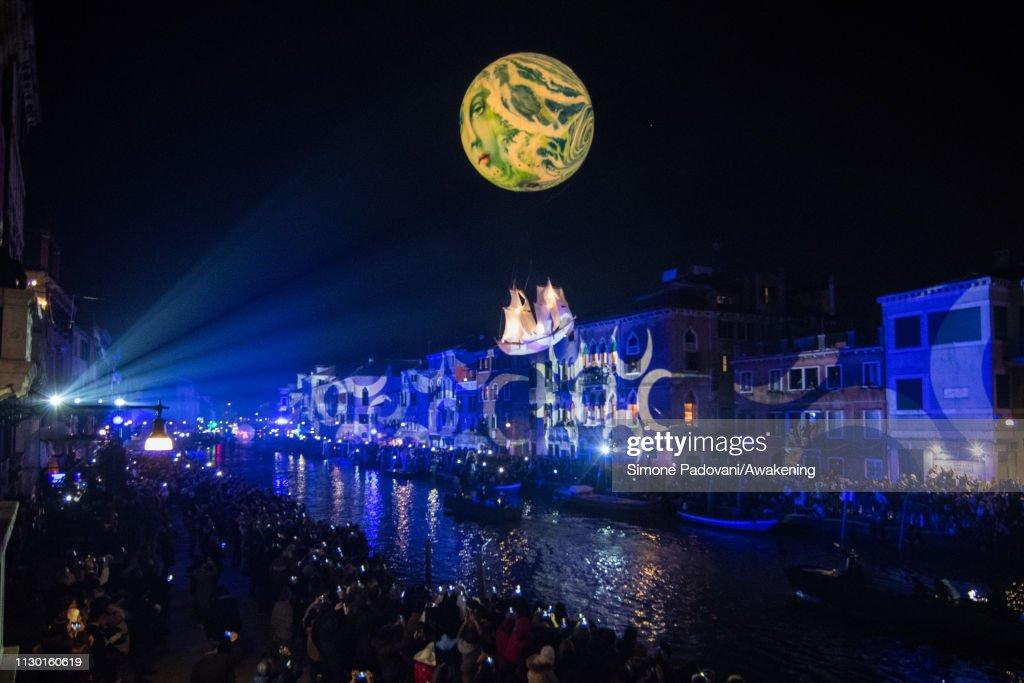 ITA: Carnival Opening At Canaregio Canal - Venice Carnival 2019