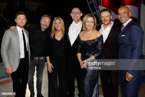 Performers Scotty McCreery John Ondrasik Mary McCormack Ronan Tynan Renee Flemming Russell Watson and Christopher Jackson onstage during the show...