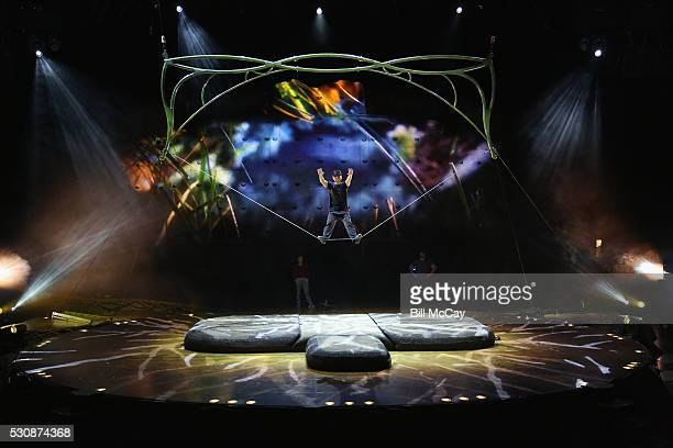 Performers seen during the rehearsal for the 'Ovo' Cirque Du Soleil Philadelphia premiere at the Liacouras Center May 11 2016 in Philadelphia...