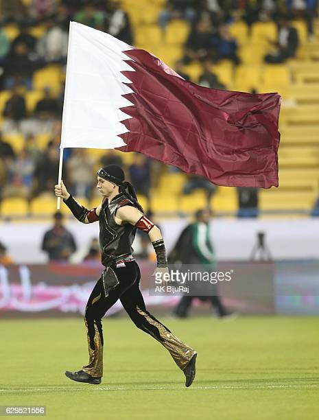 Performers show before the starting of the Qatar Airways Cup match between FC Barcelona and Al-Ahli Saudi FC on December 13, 2016 in Doha, Qatar.